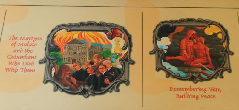 """Detail from legend to the mural by Fred Juson, """"Misyong Filipino"""""""