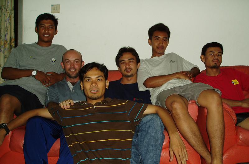 L-R: Amir, Adam, Jeffri, Din, Man & Iman