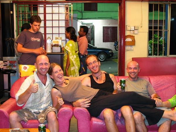 Danny Burroughs, Ilse & Maarten Duijvestijn, Adam Lewis. Last night in Malaysia