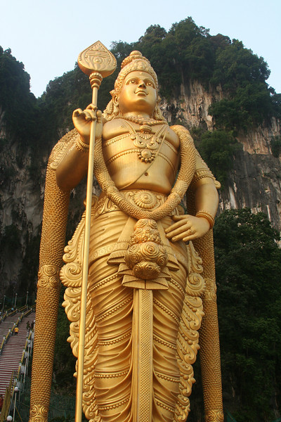 Lord Murugan close up.