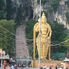 272 steps to the opening of the cave.  Oh...and a GIANT statue of Lord Murugan...the god of war and victory.