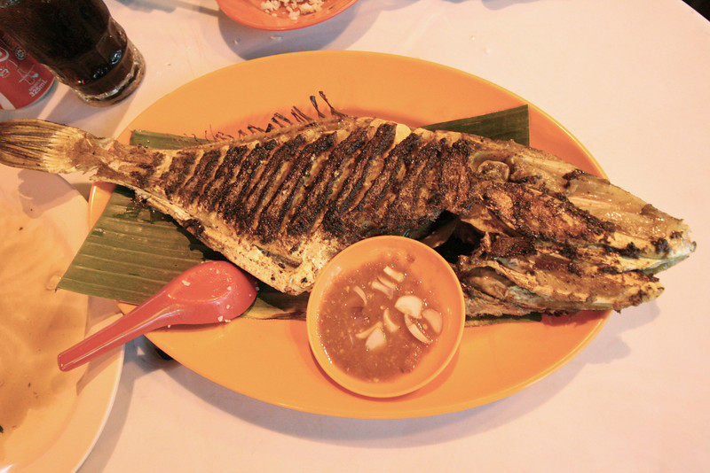 Chicken-fish.  (Yes, it tasted like chicken--sort of.)