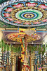 Decorated ceiling of Hindu temple
