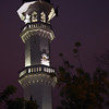 Kapitan Keling Mosque minaret at night
