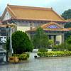 Heavy downpour at Kekloksi Temple