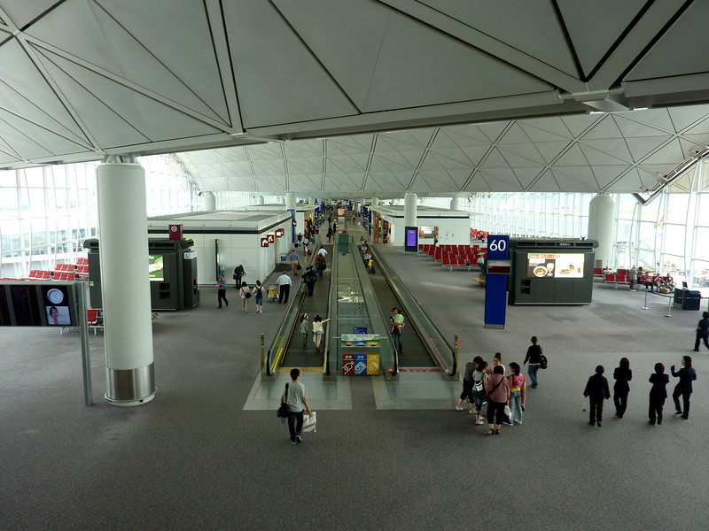 Hong Kong airport terminal from Red Carpet Club - spent a little too much time here.
