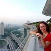 Jeane overlooking Singapore