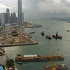 Hong Kong Harbor from the Grand Hyatt, 27th floor, courtesy of United Airlines...
