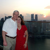Craig and Jeane on deck outside Sky on 57 atop the Marina Bay Sands, Singapore