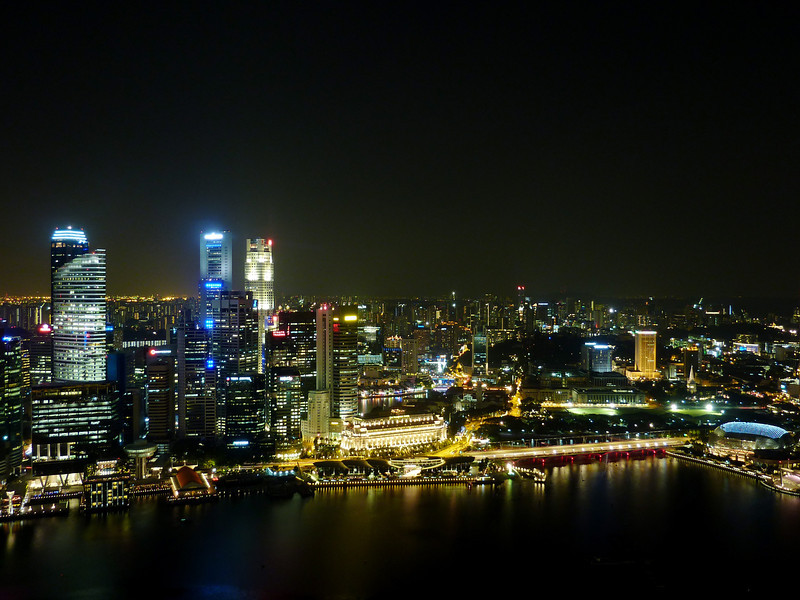 Singapore night-time skyline