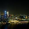 Singapore night-time skyline
