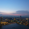 Sun setting over Singapore