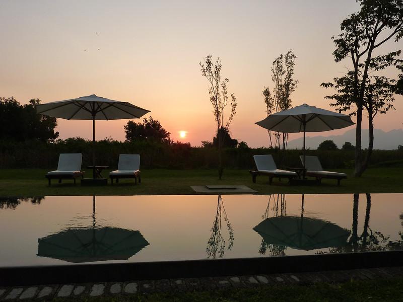 Sunset at Temple Tree Resort, Bon Ton's sister resort next door