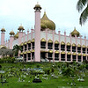 Indian Mosque with cemetery in foreground, Kuching