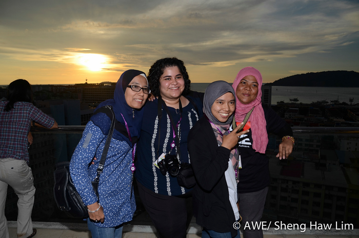 We took a sunset break during the conference. Probably we are one of the only conferences that encourage participants to go outside for sunset!