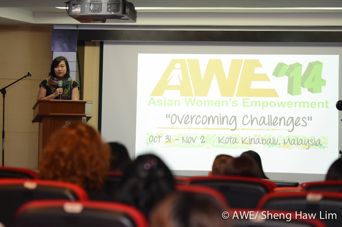 Me, AWE founder officially opening AWE '14