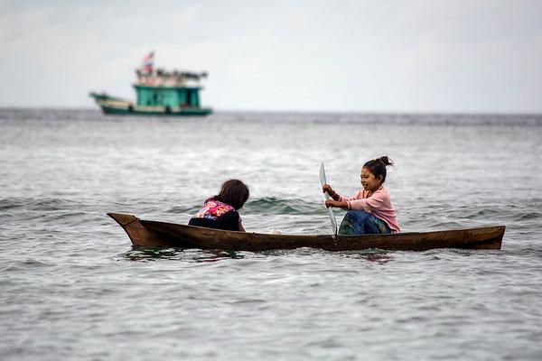 Kids in a Canoe