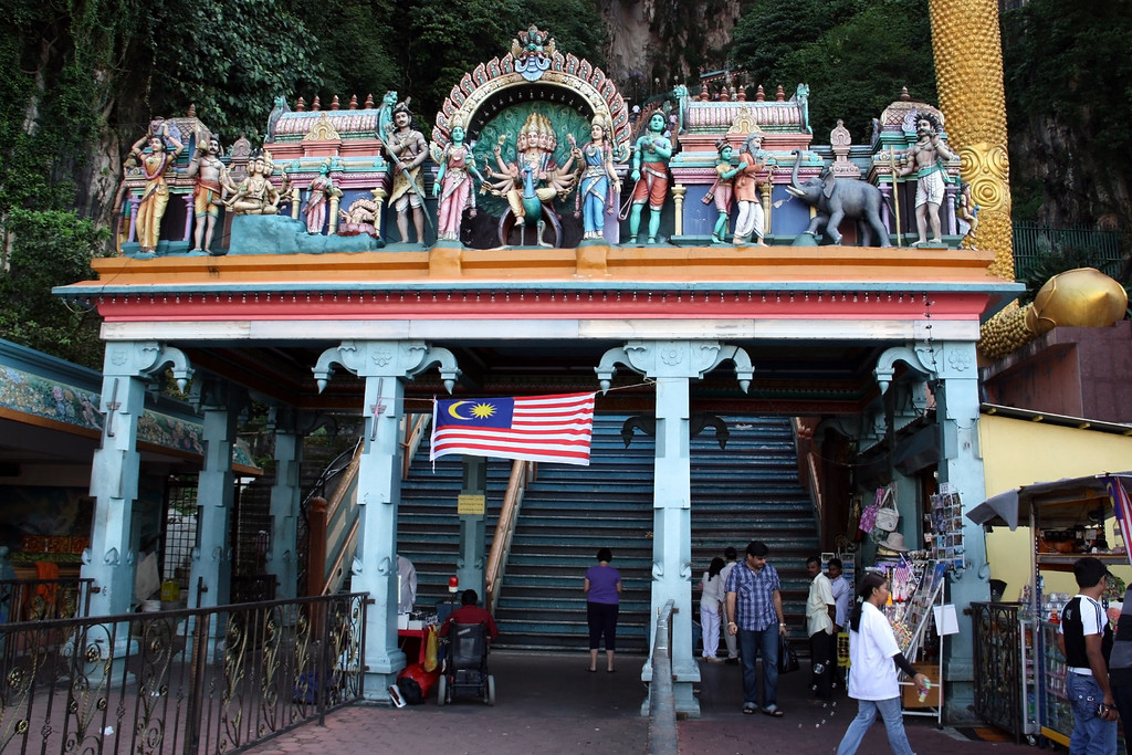 The start of the 272 Batu Caves Steps