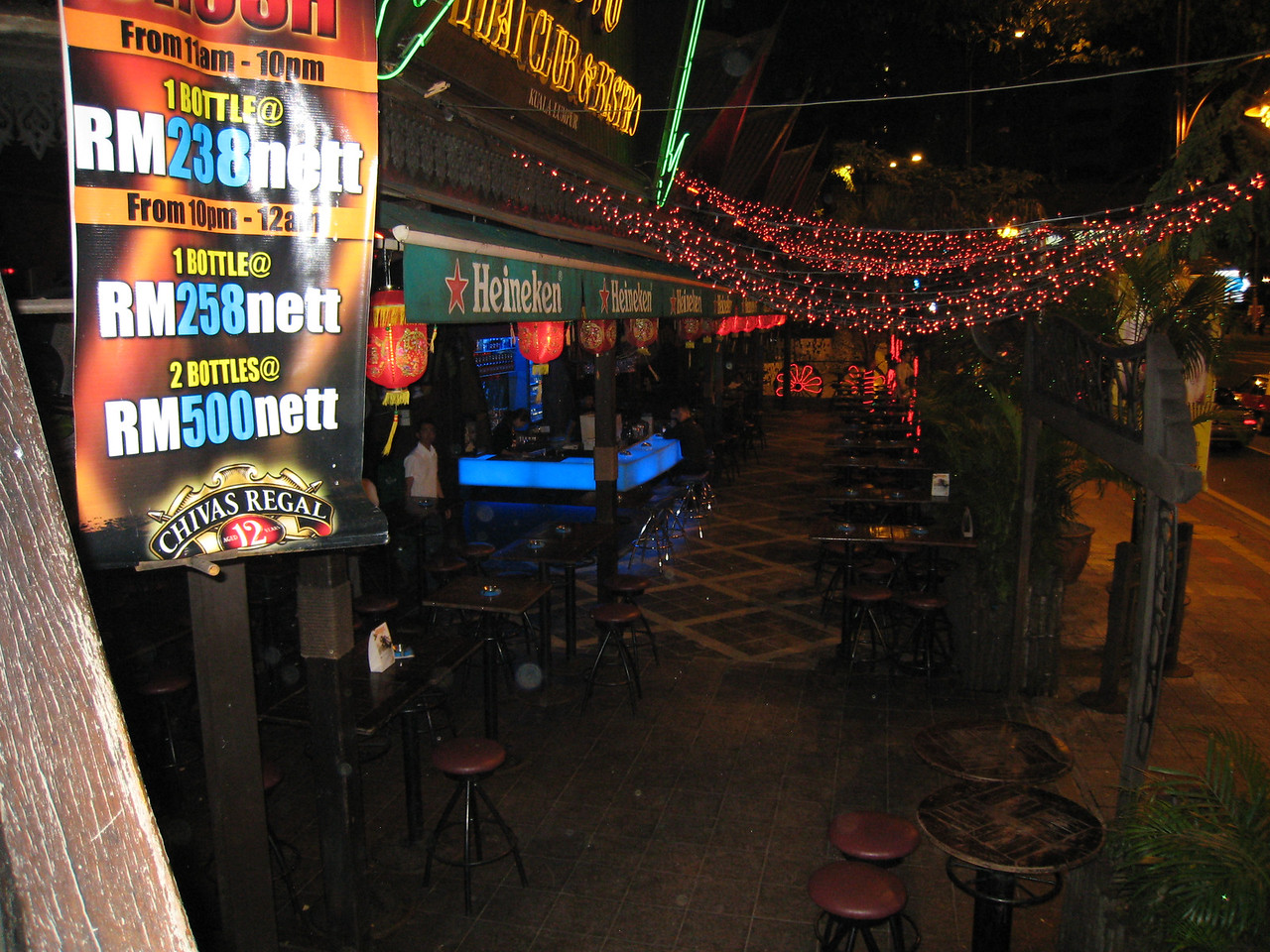 KL has many great ight clubs and bars in the downtown area.  Here's a crazy expat bar.