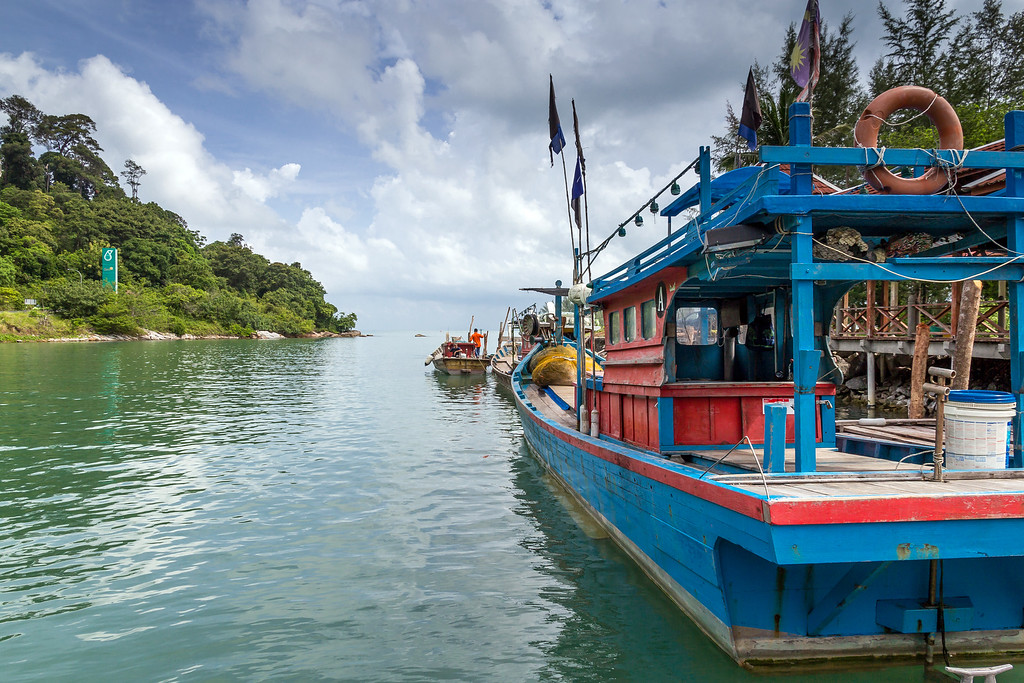 Fishing boats at Telaga Harbour, Langkawi
