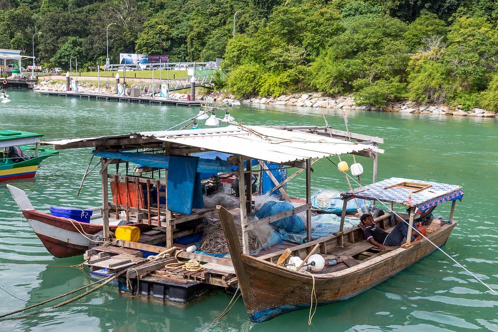 Fishing boats at Telaga Harbour, Langkawi