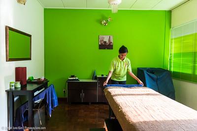 Massage room at Samkkya