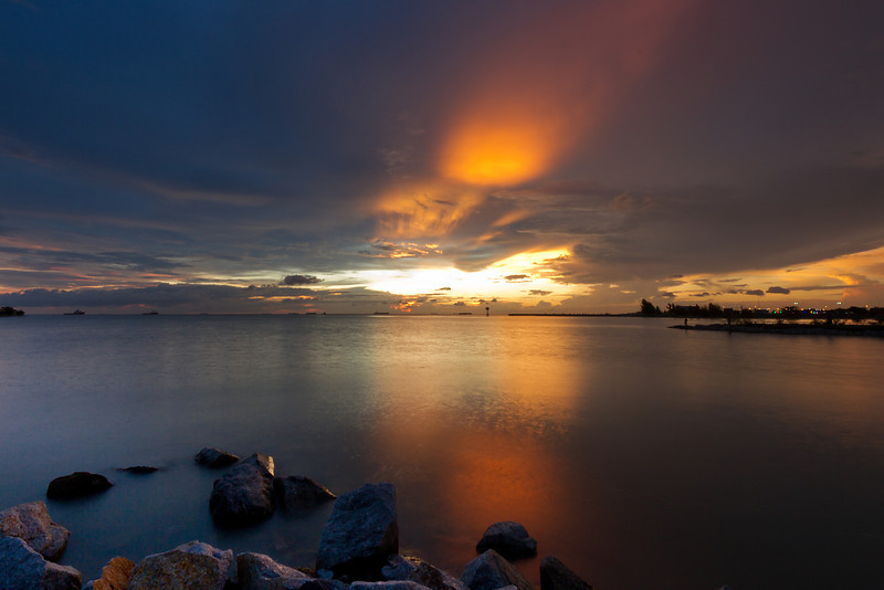 Sunset over Malacca Straits