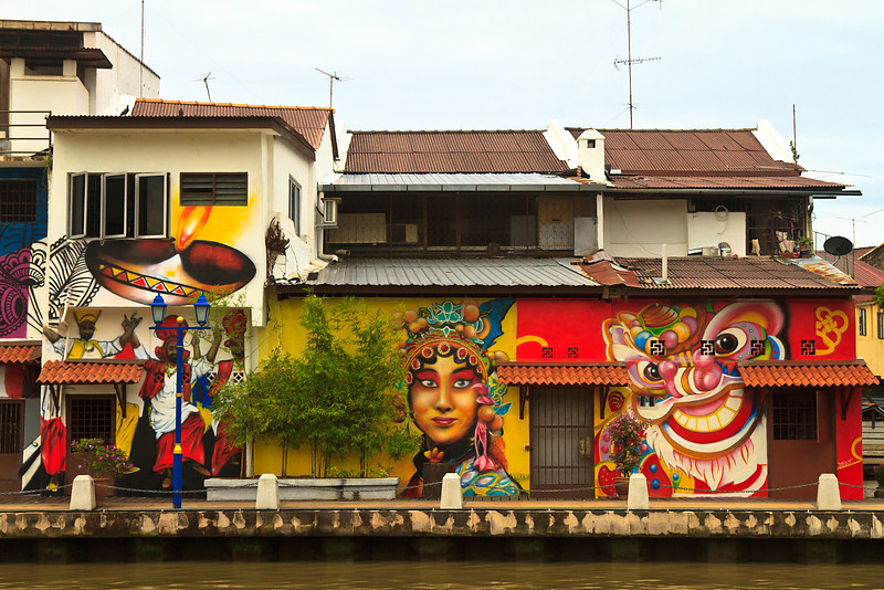 Houses on the Malacca river