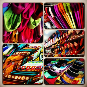 So many fashion choices in Little India, KL