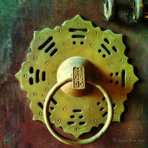 Old doorknob at Cheong Fatt Tze mansion