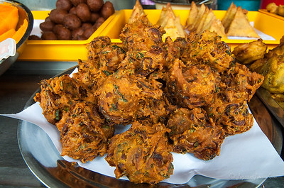 Onion ball at an Indian food stall