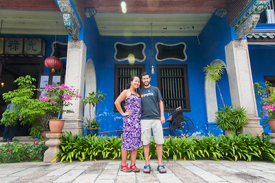 Stephen and Juno at Cheong Fatt Tze mansion
