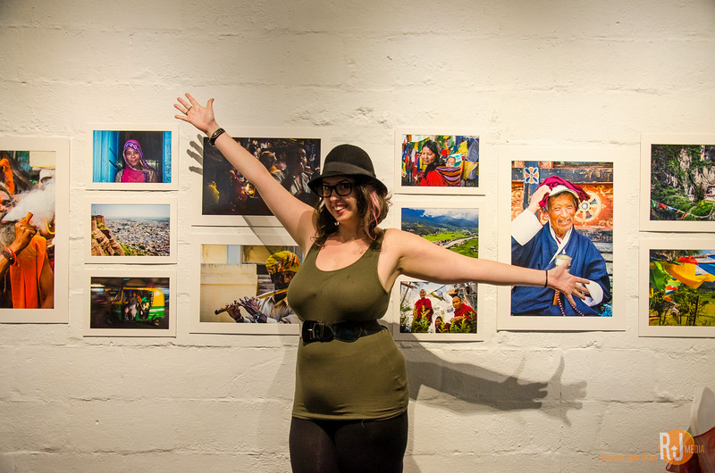 Meaghan at my photography exhibition opening