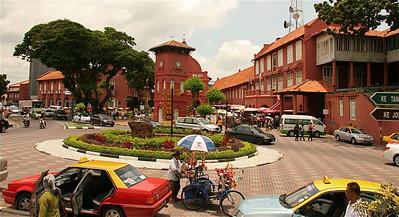 Christ Church en Stadthuys - de Nederlandse roots in Melaka, Dutch Square, Melaka, Maleisië.