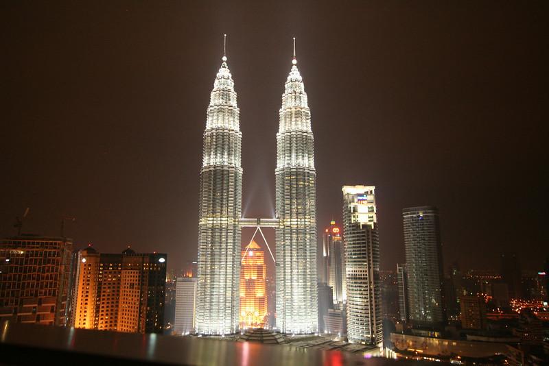 KL-Petronas Towers at night