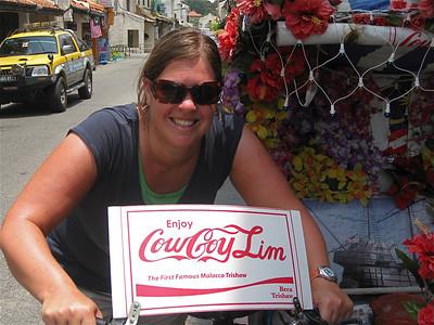 CowCoyLim trishaw in Heerenstreet, Melaka, Maleisië.