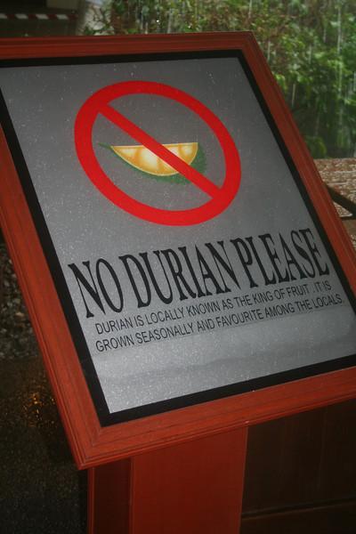 Langkawi Island--no stinky fruit allowed!