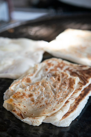 Traditional roti at a morning stand in George Town, Malaysia