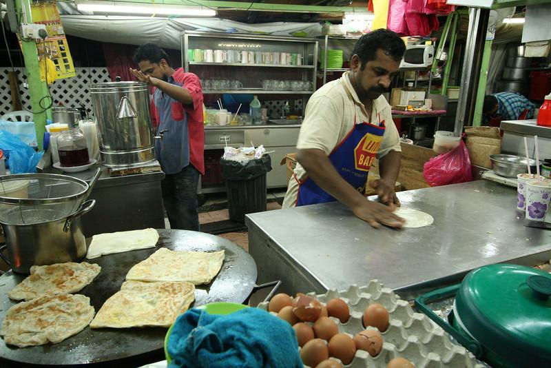 Raju makes roti tissue