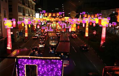 Chinatown by night, Singapore.