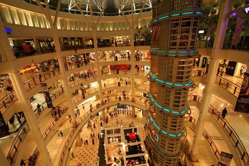 Mall inside the towers