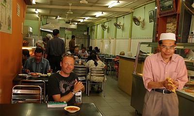 Indiaas eettentje, Little India, Kuala Lumpur, Maleisië.