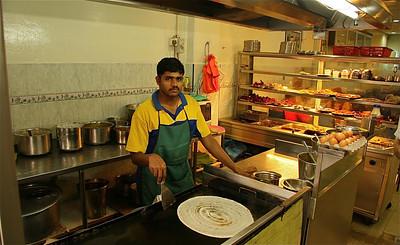 Heerlijk Roti Pisang, Little India, Melaka, Maleisië.