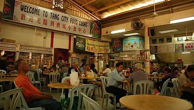 Ook een sociale ontmoetingsplaats. Tang City Food Court, Chinatown, Kuala Lumpur, Maleisië.
