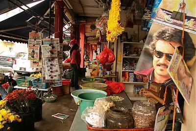 Bollywood-sterren zijn enorm populair, Little India, Melaka, Maleisië.