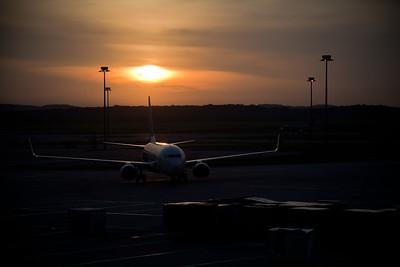 Daybreak at Kuala Lumper Airport - Day 1 of my adventure.