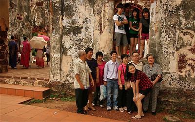 Uit de reeks: 'Zij waren er ook'. St Paul's kathedraal, Melaka, Maleisië.