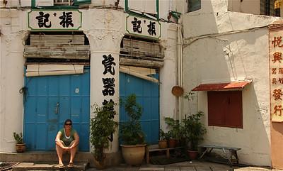 Chinatown, Melaka, Maleisië.
