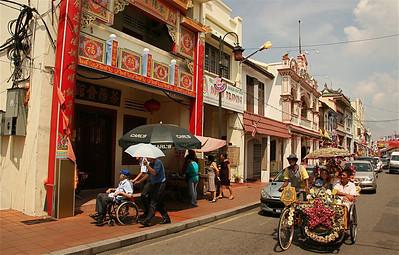 Jonker Street, Chinatown, Melaka, Maleisië.