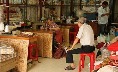 Naai-atelier in Little India, Kuala Lumpur, Maleisië.